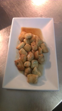 Pan fried gnocchi with browned butter